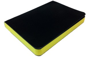 Rubberband A6 NotebookPaint Box Series, Yellow pages