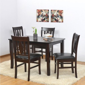 @home by Nilkamal Malmo Solid Wood 4 Seater Dining Set