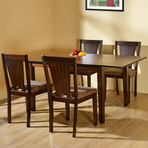 @home by Nilkamal SPECTRUM Solid Wood 4 Seater Dining Set