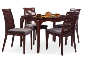 Durian ARABIAN/A /EMERALD/A Solid Wood 4 Seater Dining Set