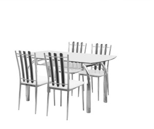 Nill Chrysanta Metal 4 Seater Dining Set