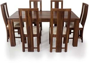 d2f6a441c6 Evok Della Solid Wood 6 Seater Dining Set Finish Color Brown Best ...