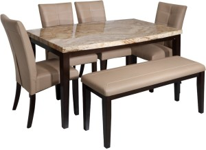 Evok Stella Solid Wood 6 Seater Dining Set