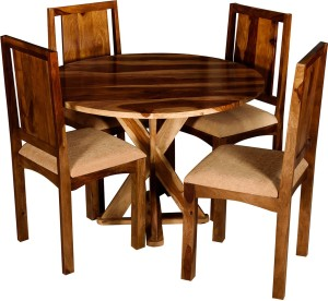 Handiana Solid Wood 4 Seater Dining Set