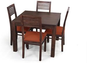 Urban Ladder Arabia Square - Zella Solid Wood 4 Seater Dining Set