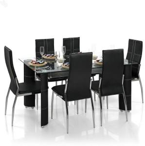 Royaloak Geneva Metal 6 Seater Dining Set