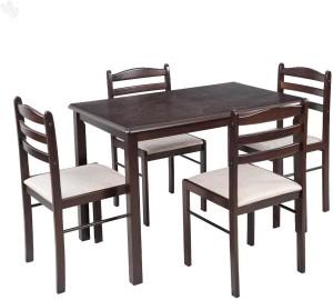 83f52305576 Royal Oak Hunter Solid Wood 4 Seater Dining SetFinish Color - Honey Brown