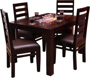 Induscraft Tadashi Solid Wood 4 Seater Dining Set