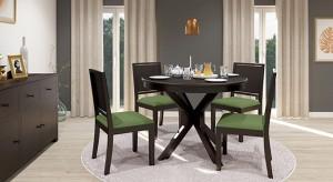 Urban Ladder Liana Round - Oribi Solid Wood 4 Seater Dining Set