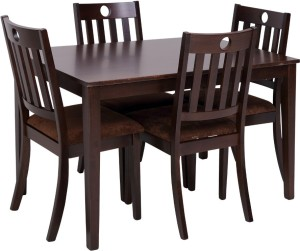 Evok Canton Solid Wood 4 Seater Dining Set