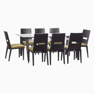 Godrej Interio Crescent Dining Set Glass Dining Set
