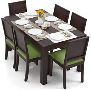 Urban Ladder Arabia - Oribi Solid Wood 6 Seater Dining Set