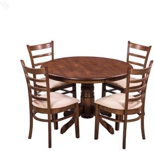 RoyalOak Solid Wood 4 Seater Dining Set
