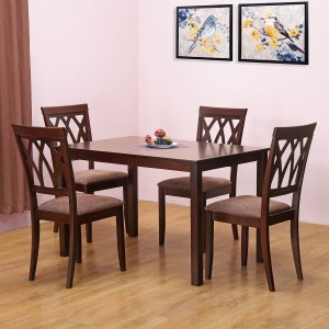 @home by Nilkamal PEAK Solid Wood 4 Seater Dining Set