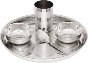 Airan Solid Grace Pack of 5 Dinner Set ( Stainless Steel )  sc 1 st  Buyhatke & Dinner Sets Price in India | Dinner Sets Compare Price List From ...