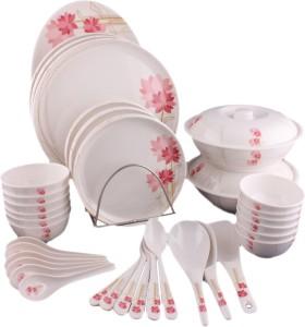 b4fd1c58cc71 Hi Luxe Lotus Pack of 44 Dinner Set ( Melamine )