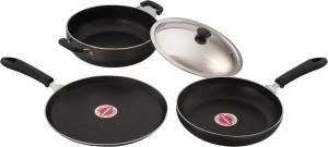 sowbaghya 3Pcs Gift Set Induction Base Non-Stick Cookware Dinner Set