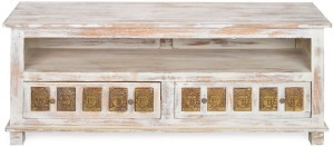 @home by Nilkamal Buddha Solid Wood TV Entertainment Unit