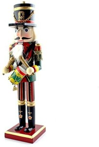Ids Home Drums Nutcracker Wooden Soldier Toys Ornaments Holiday Decorationmulticolor