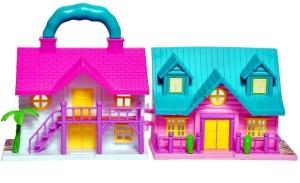 Zest 4 Toyz Foldbale Girls Princess Doll House For Kids Multicolor