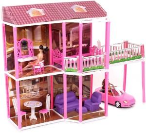 Taneja Enterprises Doll House 134 Pcs Pink Best Price In India
