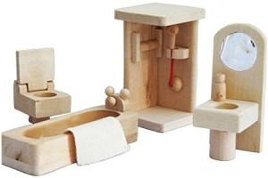 Xyshop Wooden Dollhouse Furniture Set Bathroom Multicolor Best Price