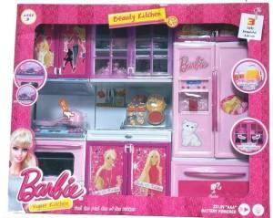 Dhawani Latest Pink Plastic Barbie Kitchen Set Set Pink Best Price