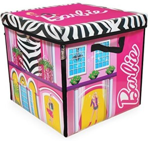 Neat Oh Barbie Zipbin 40 Doll Dream House Toy Box Playmatmulticolor
