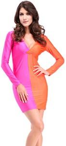 35c90c428 Kaamastra Women s A line Pink Orange Dress Best Price in India ...