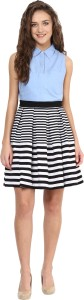 Miss Chase Women's Fit and Flare Multicolor Dress