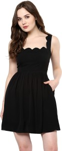 3597f4135827c9 Roving Mode Women s A line Black Dress Best Price in India