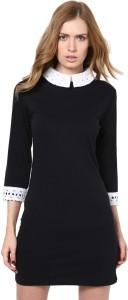 Golden Couture Women's Shift Black Dress