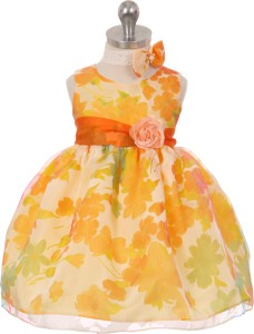 4ea7250e8b Magic Fairy Baby Girl s Midi Knee Length Party Dress Orange ...