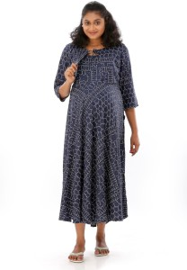 ada5c9b94d3 Mamma Mia Casual Printed Women s Maternity Wear Kurti Multicolor ...