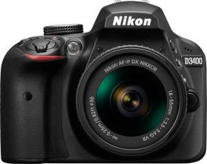 Nikon D3400 DSLR Camera with Kit Lens AF-P DX NIKKOR 18 - 55 mm f/3.5 - 5.6G VR