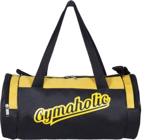 e0e178bf9d6328 Gag Wear Gymaholic Gym Bag Black Yellow Kit Bag Best Price in India ...