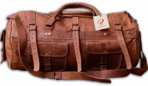 Pranjals House vintage leather duffle bag 22 inch/55 cm Travel Duffel Bag