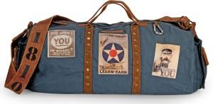 The House of Tara Vintage Weekender Overnighter Travel Duffel Bag