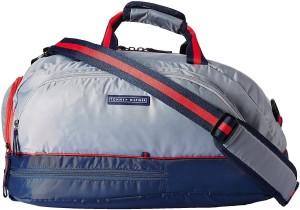 fad6c48e8 Tommy Hilfiger Glacier Expandable Travel Duffel Bag Grey Blue Best ...