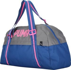Puma Fundamentals Sports Bag Female Gym Bag Grey Blue Best Price in ... ccaa41bd2f434