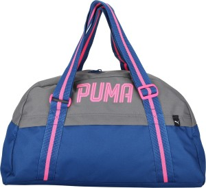 55f328064d Puma Fundamentals Sports Bag Female Gym Bag Grey Blue Best Price in ...