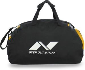 Nivia Sports E Gym Bag 12 Inch 30 Cm Travel Duffel Bagblack Yellow