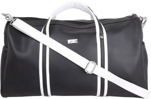 Yelloe White Weekender Bag 17 inch/43 cm (Expandable) Travel Duffel Bag