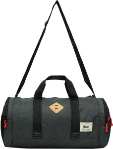 Gear Classic Duffel Grey Black 18 inch 45 cm Gym Bag Grey Best Price ... 6fa2569ce1