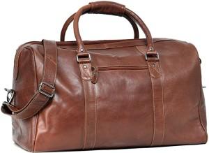 29b3dabaef0f Leather Zentrum T102 51 inch 129 cm Travel Duffel Bag Brown Best ...