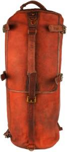 Pranjals House brown genuine leather duffle cum backpack bag Travel Duffel Bag