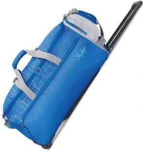 c2fceef659eec5 Skybags AERDFT 22 inch 58 cm Expandable Duffel Strolley Bag Blue ...