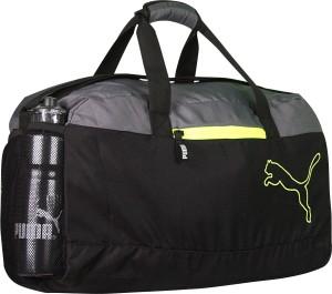 Puma FUNDAMENTAL SPORTS BLACK GREY Travel Duffel Bag Black Grey Best ... 758bee7ea1259