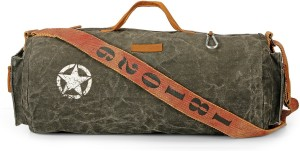 The House of Tara Distress Finish Canvas Duffle/Gym Bag 20 inch/50 cm Travel Duffel Bag