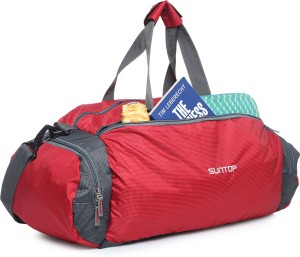 7d8f5eda99 Suntop Barrel 21 inch 53 cm Travel Duffel Bag Red Grey Best Price in ...